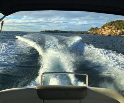 Sea Ray trimmed up in Hawkesbury River
