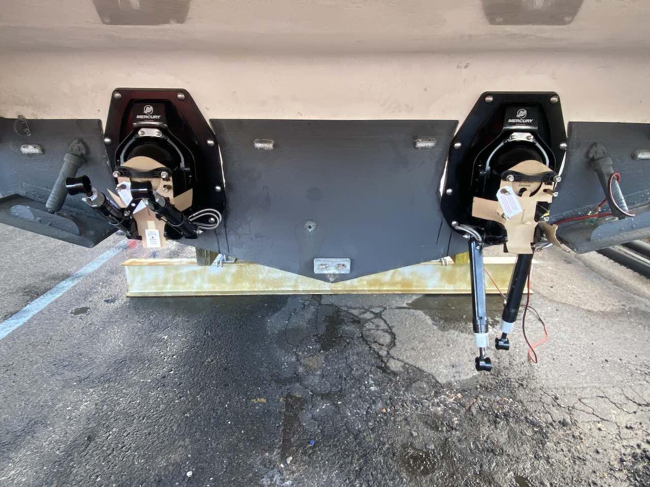Two Mercruiser Bravo transom assemblies