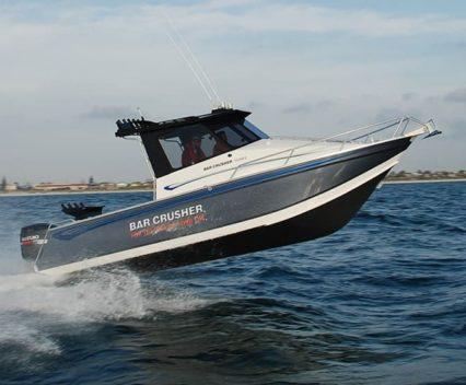 The Bar Crusher 760 is an aluminium boat
