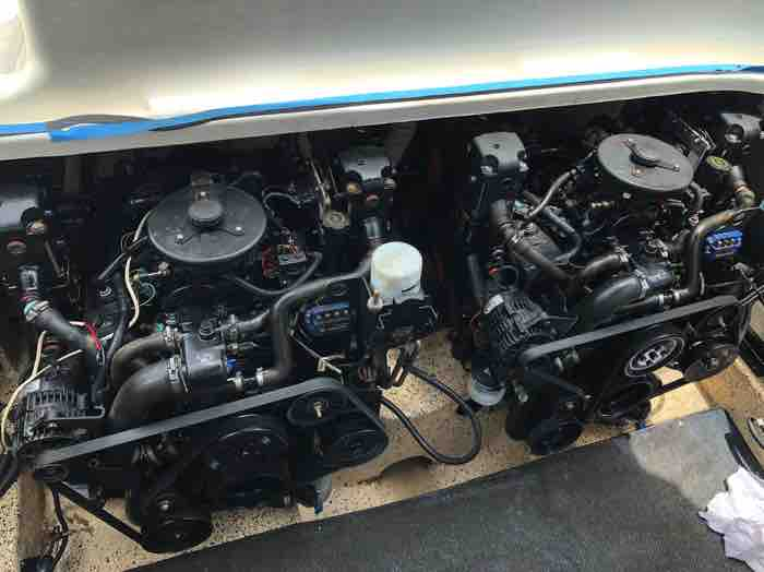 Two Mercruiser V6 MPI motors fitted to Sunrunner 3300