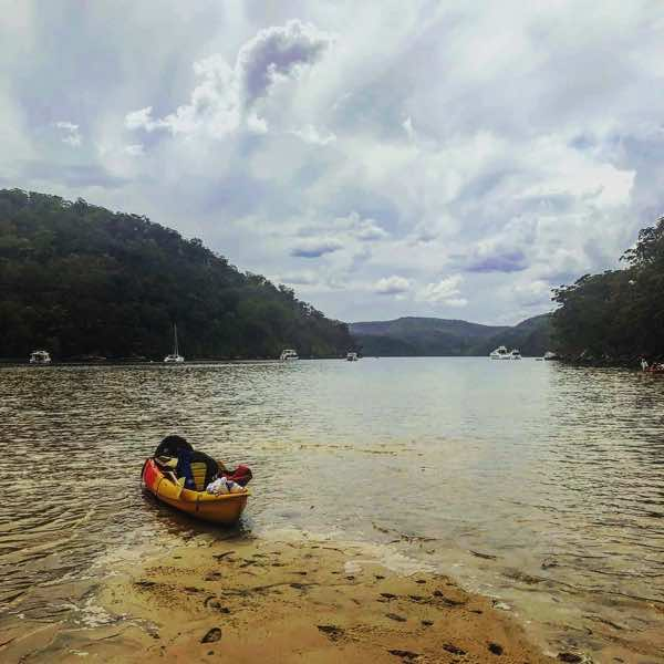 A kayak on the Hawkesbury river