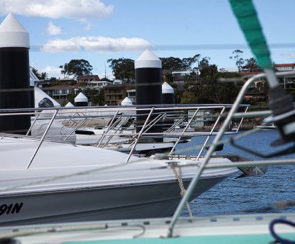 Boats at a marina - most marinas require insurance, which a boat survey can help with