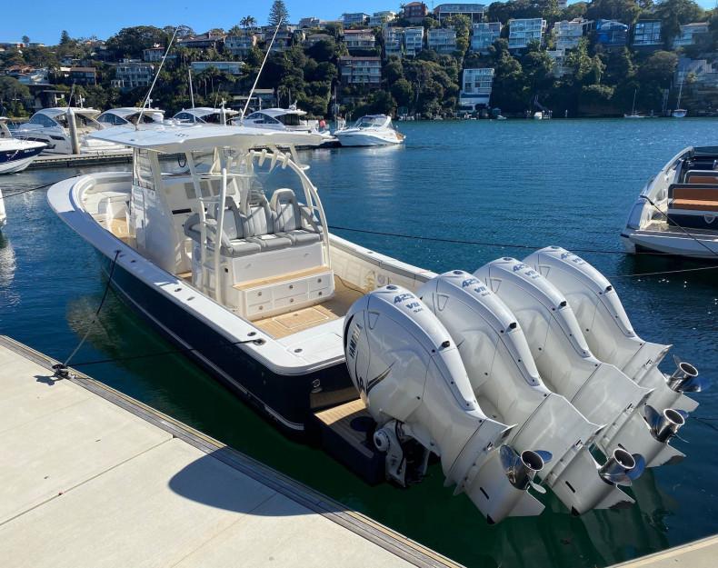 4 Yamaha Outboard on transom