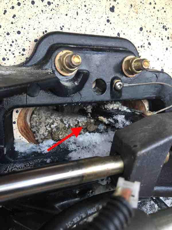 Mercruiser steering pin leaking