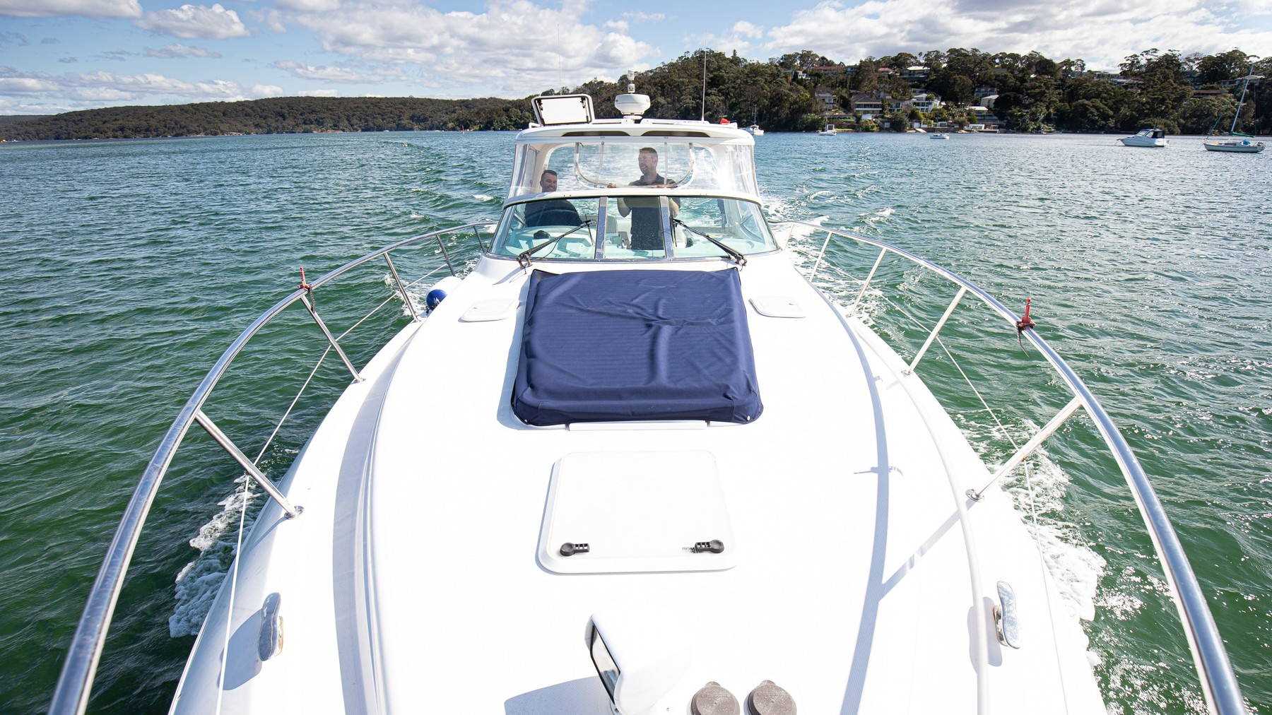 Riviera M360 Boating on Port Hacking
