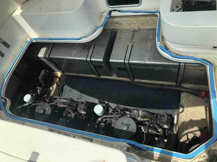 Sunrunner 3300 hatch removed