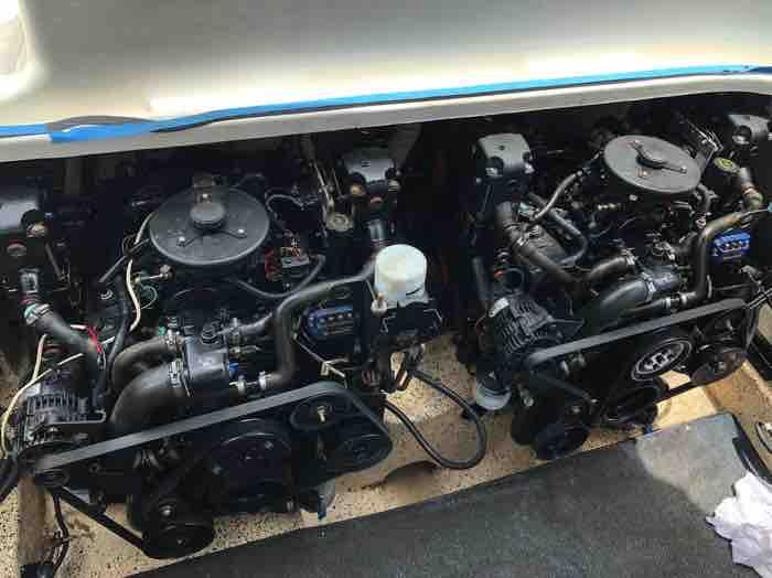 Two Mercruiser V6 MPI motors fitted to Sunrunner 3300