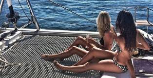 Picture of two girls on a boat