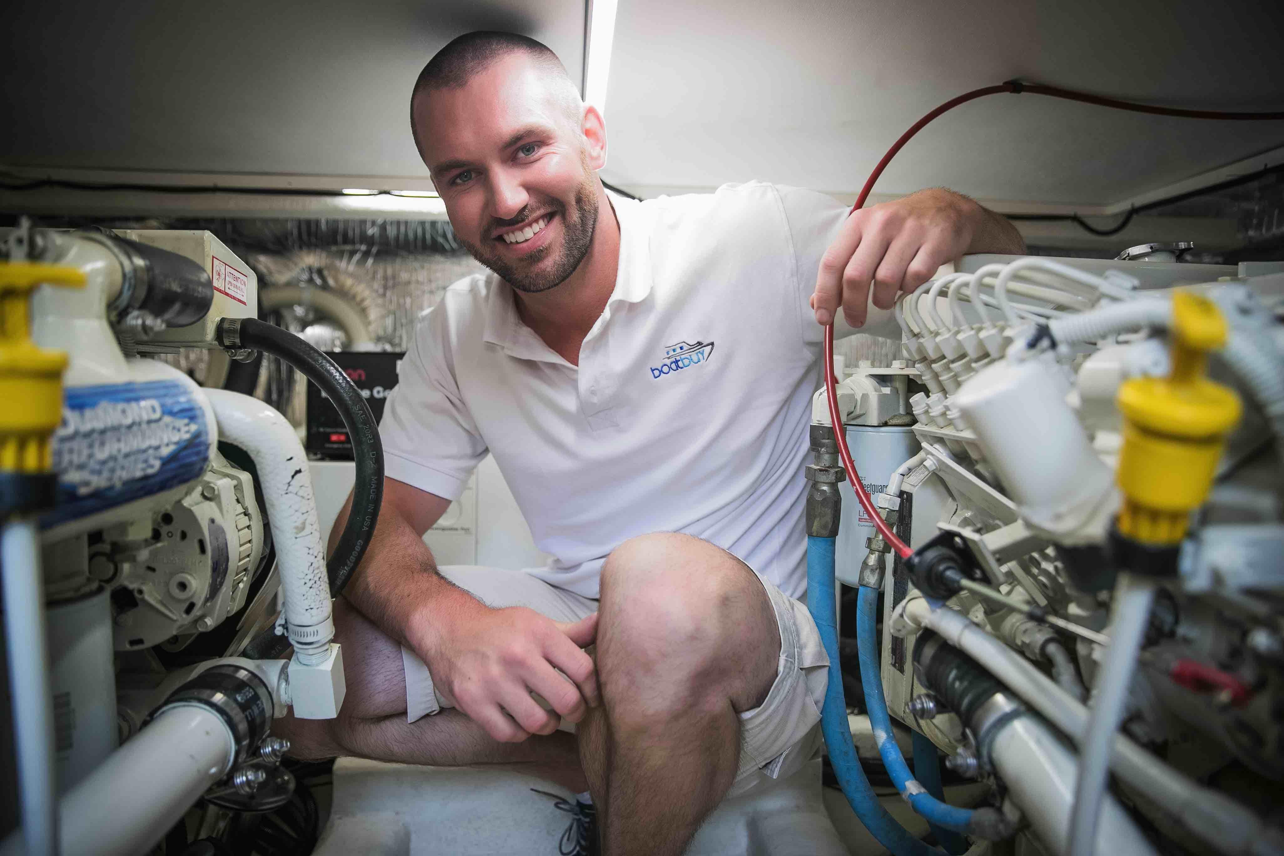 Aaron in Engine Room